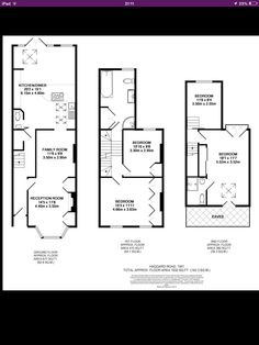 Victorian terrace with loft and and back extension. Floor plan