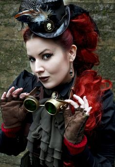 steampunk red by lyly kaiser