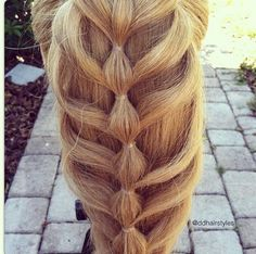 Bubbled cage braid