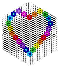 Flower Heart Frame Perler Bead Pattern / Bead Sprite