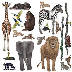 Safari Wall Decal | Animal Wall Stickers | WallsoftheWild.com