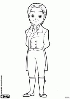 prince james sofias stepbrother coloring page