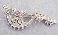 Mazer Bros Banner Brooch - Garden Party Collection Vintage Jewelry