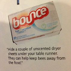 Dryer sheets are an easy bee repellant