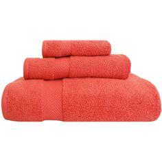 Zero Twist 3 Piece Towel Set Color: Coral found on Polyvore