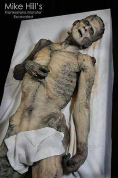 Mike Hill's Frankenstein autopsy sculpture / prop , great version of the creature . Creepy Halloween, Halloween Horror, Holidays Halloween, Halloween Ideas, Haunted Halloween, Halloween Projects, Halloween Makeup, Halloween Decorations, Halloween Costumes
