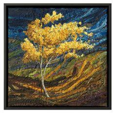 Native Trees - Breeze #5 - Lorraine Roy: Textile Art