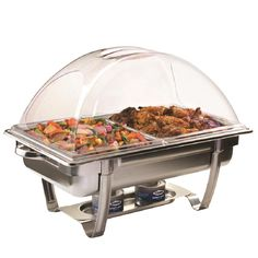 Improve your buffet presentation by using this Sterno CandleLamp ClearDome Chafer Lid. Made of a sturdy, heat-resistant material. Specialty Cookware, Chafing Dishes, Transparent Design, Dish Sets, Home Chef, Home Food, Food Safety, Cooking Tools, Kitchen Gadgets