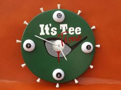 Wood Tee Time Golf Wall Clock by SouthernTimez on Etsy