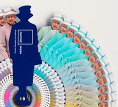 The Queen Pantone Guide. 60 years of matching colour. Haha!