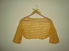 Κίτρινο πλεκτό Μπολερό -  Yellow knitted shrug. Crochet Top, Tops, Women, Fashion, Moda, Fashion Styles, Fashion Illustrations, Woman
