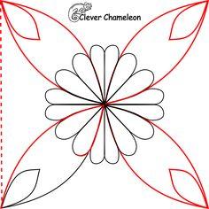 stylised flower step 4