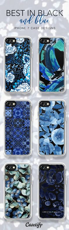Best in Black and blue, shop these iPhone 7 case and iPhone 7 Plus case here > https://www.casetify.com/artworks/m4MkezYB0h