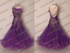 New Ready to Wear Purple Rain Chrisanne Stiff Net Ballroom Dress Size 6 | eBay