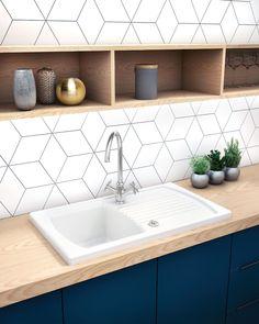 Double Vanity, Simple Designs, Tiles, Sink, Interior Design, Bathroom, Kitchen, Home Decor, Dyi