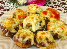 Mantar Dolması - World Food & Recipes Turkish Recipes, Italian Recipes, Ethnic Recipes, Good Food, Yummy Food, Stuffed Mushrooms, Stuffed Peppers, Fish And Meat, Snacks Für Party