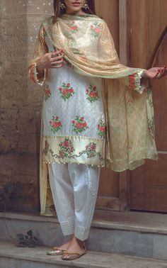 Buy Grey Embroidered Cotton Lawn Dress by Alkaram 2016 Contact: 702-7513523 Email: info@pakrobe.com Skype: PakRobe