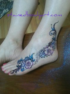 Gulf on the side of the feet. #gulf #henna #fairy #faery #faerie #florida #beachlife #gypsylife #gypsysoul #kawaii