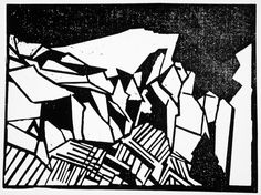 Moriz Melzer (Bohemia, Albendorf, 1877-1966), Untitled abstract composition, ca 1919, woodcut. Image: 5 7/16 x 7 1/2 in. Robert Gore Rifkind Ctr for German Expressionist Studies @ LACMA