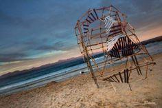 FACEBOOK 25 Aug. Imagician (photo). Malcolm 'Salty' Solomon (artist). Site_Specific #LandArtBiennale. #Plett