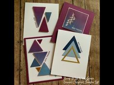 Triangles, Right Triangle, Die Cut Cards, Card Tutorials, Stamping Up, Stampin Up Cards, Cardmaking, Birthday Cards, Christmas Cards
