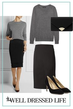 Women's Skirts - - Wear to Work: Less is More - The Well Dressed Life Womens Fashion High Waist A-Line Pleated Knee-Length Skirts Office Dress Welcome. Women's Leather Micro Mini Skirt Sexy Wet Look Bodycon Lingerie Club Party Dress. Women S Office Fashion, Work Fashion, Dress Fashion, Fashion Fashion, Fashion 2018, Latest Fashion, High Fashion, Fashion Stores, Petite Fashion