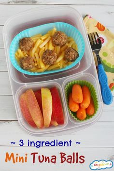 Allergy Friendly 3 Ingredient Mini Tuna Balls | packed in @EasyLunchboxes via @Laura Fuentes/ MOMables.com