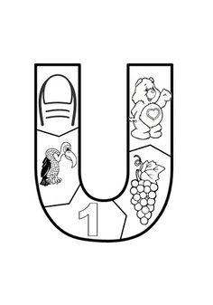 VOGAL U Letter Worksheets, Letter Activities, Preschool Spanish, Disney Christmas Decorations, Learning The Alphabet, Phonics, Language Arts, Dual Language, Album
