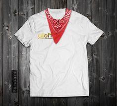 "www.aloft.clothing ""Bandana"" men's t-shirt, white cotton, silk screen. paragliding brand, casual line Like our page: https://www.facebook.com/AloftBoundaryLayerApparel"