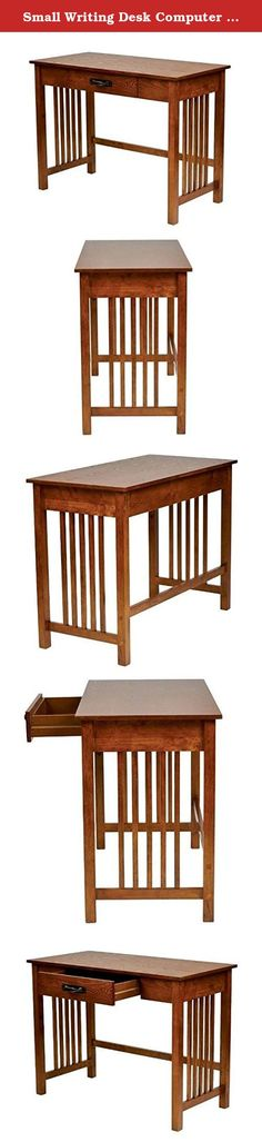Small Writing Desk Computer For Small Spaces With Hutch Antique Drawer Laptop Home Office. Why not get that beautiful desk you have been waiting for? Why this beautiful writing desk is superior to similar products: - You will be amazed at the sturdiness and durability of this small writing desk. - This computer desk for small spaces is a great space saver while still giving you plenty of practical workspace measuring at 30 inches high x 40 inches wide x 20 inches deep. - With its…