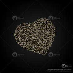 Desenho de strass Coração - Ref.: 1564