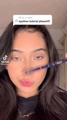 Eyebrow Makeup Tips, Makeup Tutorial Eyeliner, Makeup Eye Looks, Creative Makeup Looks, Cute Makeup, Gorgeous Makeup, Pretty Makeup, Makeup Videos, Beauty Makeup