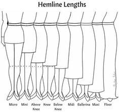 hem length Plus size Pencil skirts - Plus size Skirts for Petite women Dress Design Drawing, Dress Design Sketches, Fashion Design Sketchbook, Fashion Illustration Sketches, Fashion Design Drawings, Fashion Sketches, Fashion Terms, Types Of Fashion Styles, Fashion Brands
