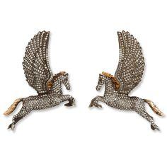 Sevan Bicakci Diamond Pegasus Earrings