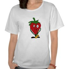 AD- Strawberry Playing Saxophone Shirt Designed by Tickle Your Funny Bone $21.15