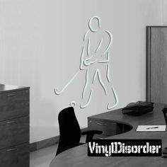 Golfer Wall Decal - Vinyl Sticker - Car Sticker - Die Cut Sticker - CDSCOLOR027