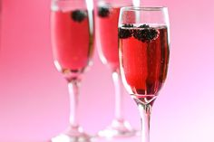 Kir Royale – delicious, and so pretty!