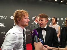 James Blunt & Ed Sheeran | Goldene Kamera Awards, Hamburg, Germany 04.03.2017