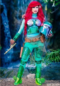 Traci Hines [as Ariel - as a Disney Fett] (Mash-Up / Cosplay by AmberArden @Facebook) #TheLittleMermaid #StarWars