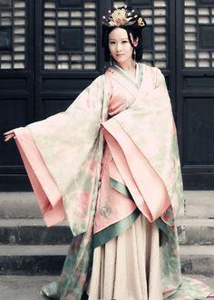 Ancient China Princess Pink Clothes Full Set