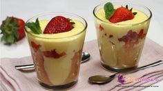 > dessert | tiramisu with strawberries and limoncello cream