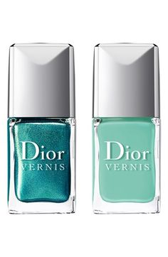 Dior: teal and mint