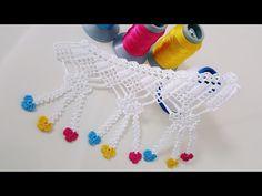 902 Saçaklı Çeyizlik Havlu Kenarı Yapımı - YouTube Crochet Borders, Crochet Flower Patterns, Crochet Patterns For Beginners, Filet Crochet, Crochet Flowers, Easy Crochet, Tatting, Crochet Bookmarks, Creative Embroidery