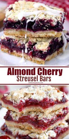 Cherry Desserts, Easy Desserts, Delicious Desserts, Yummy Food, Desserts With Cherries, Black Cherry Recipes, Frozen Cherries, Frozen Blueberries, Tasty
