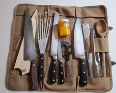 using tool bags to carry well, her tools... chef/food writer julia turshen via design sponge