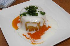 Famous Spanish tapa: Patata brava reinterpreted (restaurante D'Fabula, Pza/ del Conde de Barajas, 3, Madrid)