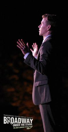 """Stephan Stubbins, Broadway performer from """"Mary Poppins,"""" singing in Transcendence Theatre Company's """"Broadway Under The Stars in Jack London State Park"""" concerts in Sonoma, Napa, Wine Country - www.TranscendenceTheatre.org"""