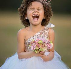 Rose Gold Sequins Soft White Tutu Dress, One Shoulder Tutu Dress, Couture Flower Girl Dress