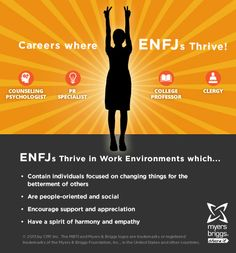 The careers and workplaces where ENFJs thrive! #MBTI #myersbriggs #careers