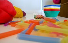 Play dough cupcake party